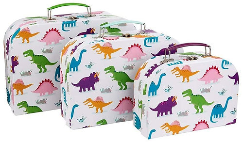Sass & Belle Roarsome Dinosaurs Storage  Suitcases - Set of 3