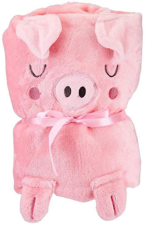 Sass & Belle Oink The Piglet Baby Blanket