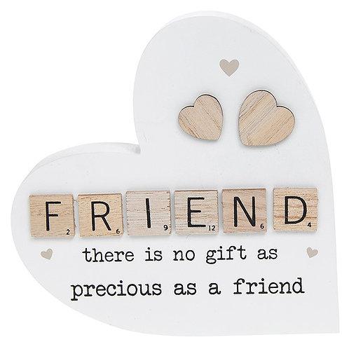 Scrabble Sentiment Standing Heart Friend