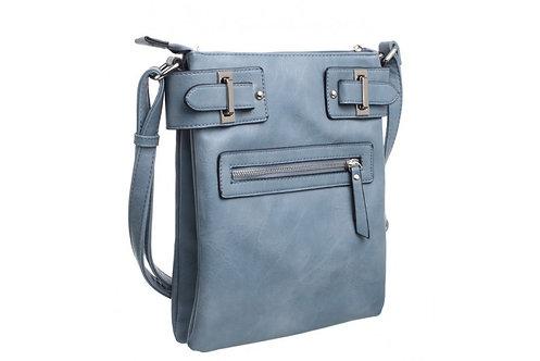 SMART ZIPPER CROSS BODY BAG BLUE