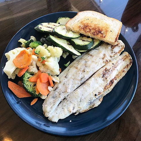 Healthy and delicious 😋 grilled basa fi