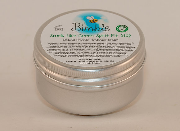 Smells Like Green Spirit Pit Stop Vegan Probiotic Natural Deodorant Cream