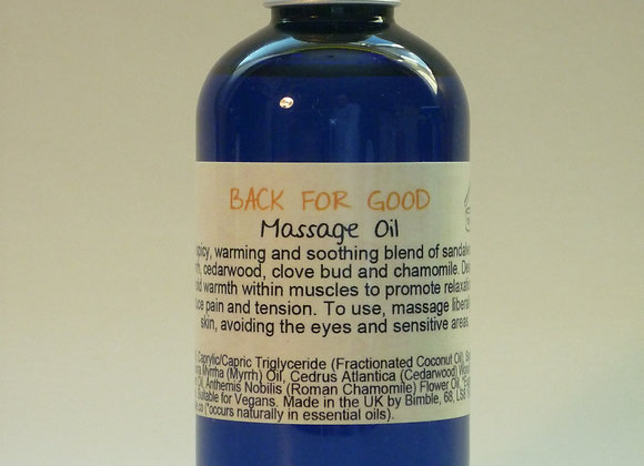 Back for Good Natural Massage Oil