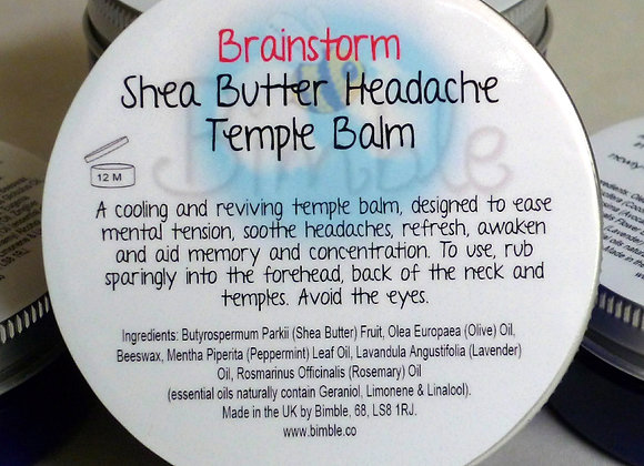 Brainstorm Headache Relief Shea Butter Temple Balm