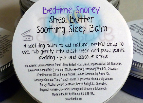 Bedtime Snorey Sleep-Enhancing Shea Butter Temple Balm