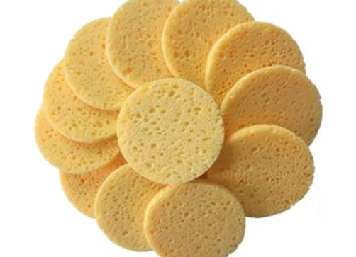 Natural Cellulose Sponge Pads - Reusable & Compostable Cleansing/Make-Up Pads