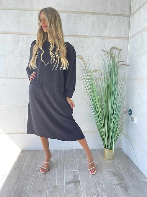 שמלת בייסיק+כיסים