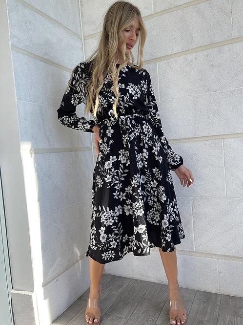 שמלה פרחונית סאטן