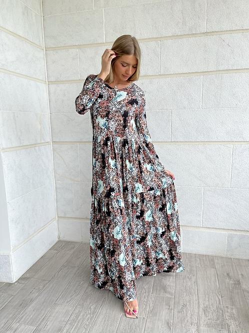 שמלת מקסי מיטל