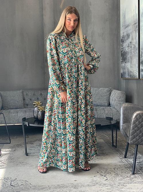 שמלת מקסי פרחים קומות