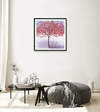 Black Framed Winterberry Holly in a room