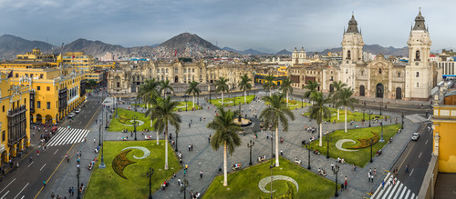 The main Square in Lima, Peru