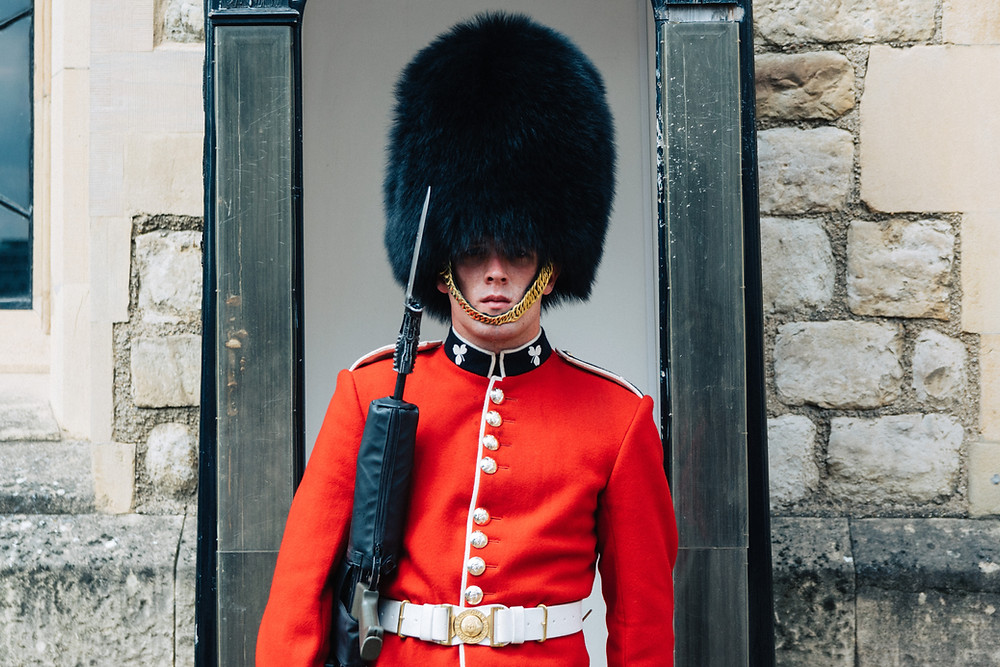 A member of the Queen's guard in London