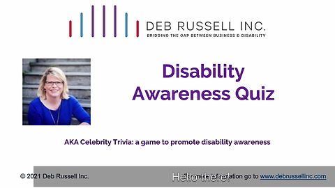 Do you know what disability looks like?  take this quiz to test your knowledge