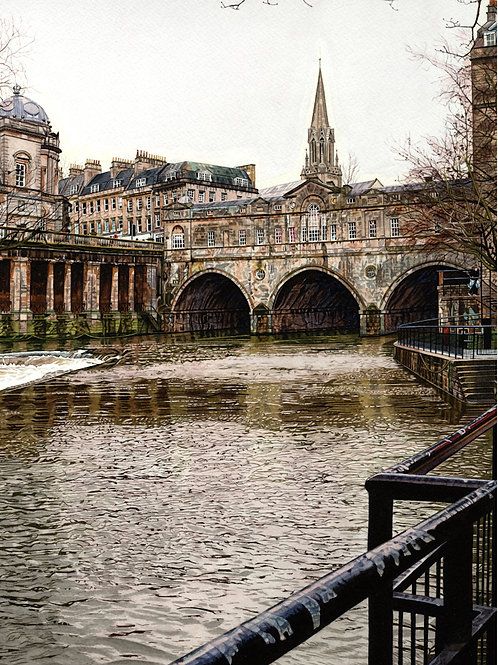 """Pulteney Bridge & St Michaels"""