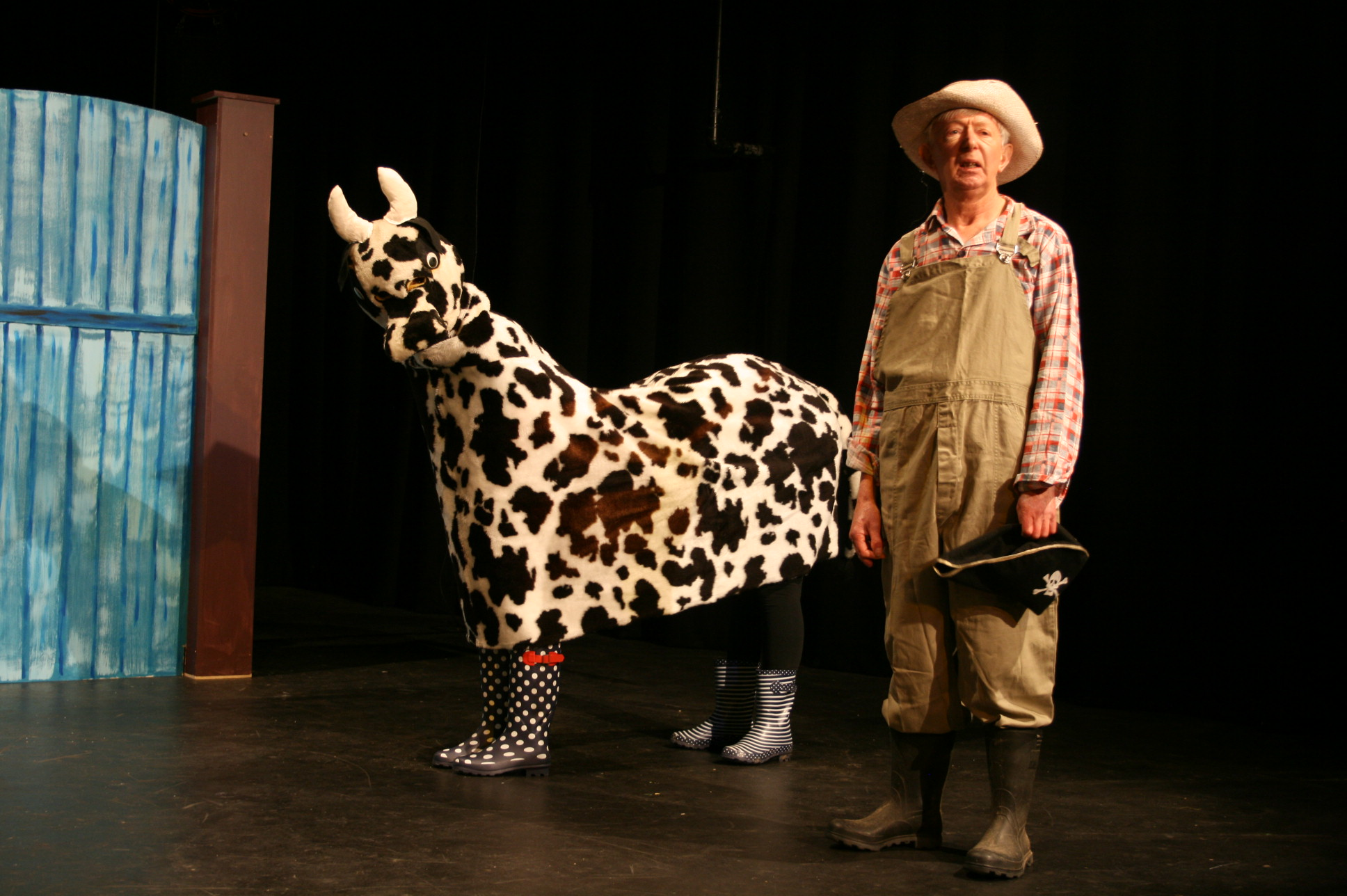 A farmer and his cow