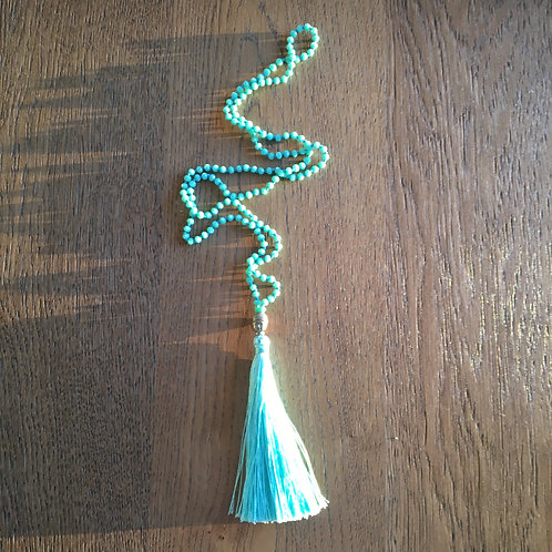 Necklace azure green