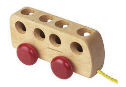 Wooden Bus Red