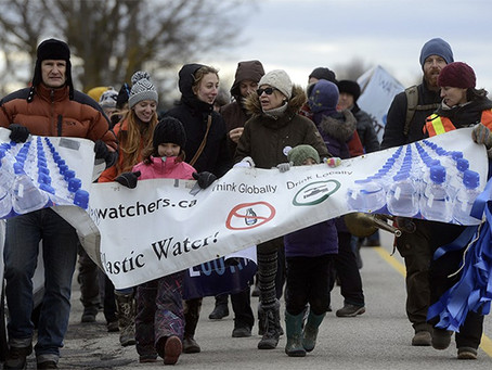Protesters rally against Nestlé Waters' plans for Elora well