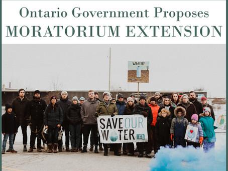 Ontario Government Proposes Moratorium Extension