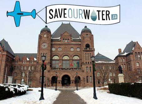 Save Our Water is going to Queen's Park on February 27th to present its petition!
