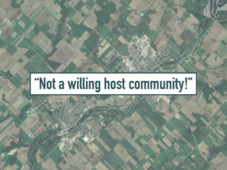 """Township will follow up on its """"Centre Wellington is not a willing host community"""" resolution"""