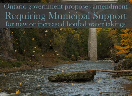 Ontario government proposes amendment to the Ontario Water Resources Act