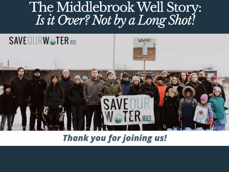The Middlebrook Well Story: Is it Over? Not by a Long Shot!