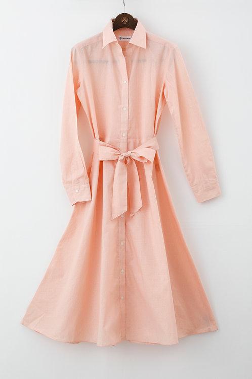 Ladies'シャツワンピース オレンジ FreeSize ~恋する女の子のワンピース~