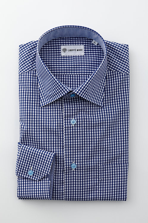 Men'sギンガムチェックシャツ
