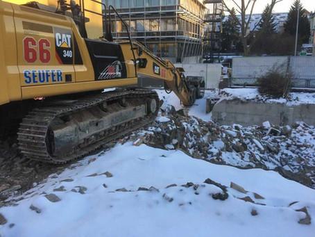 Winter im West Stadt Quartier Ludwigsburg