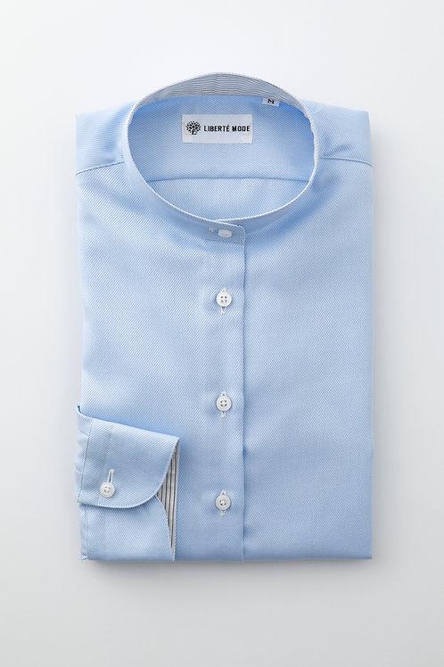Ladies'ベーシックシャツ ブルー 〜しとやかさを添えたヒロインのシャツ〜