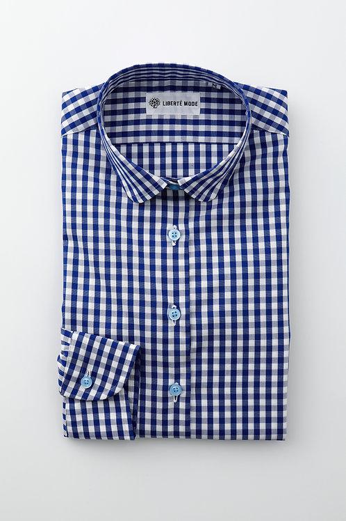 Ladies'ギンガムチェックシャツ 〜心はずむシャツ〜