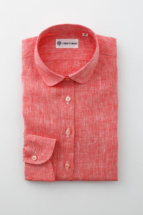 丸襟リネンシャツ 〜着た一日が愛おしくなるシャツ〜