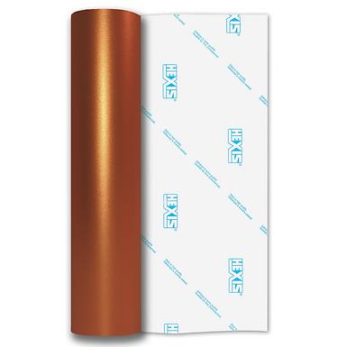 Orange Shimmer Metal Satin Self Adhesive Vinyl