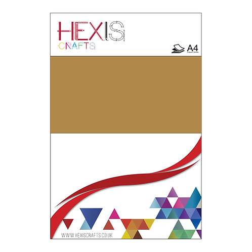 Bright Gold Heat Transfer Flex Sheets x 6