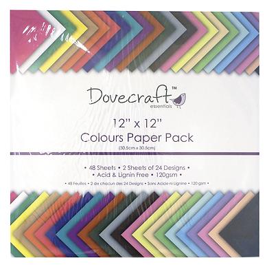 "12"" x 12"" Colours Paper Pack"