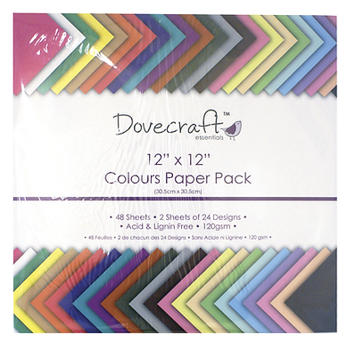 "12"" x 12"" Colours Paper Pack"