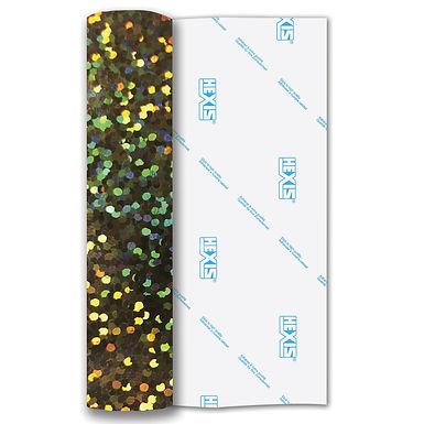 Gold Sequin Heat Transfer Flex 500mm Wide x 1m Long