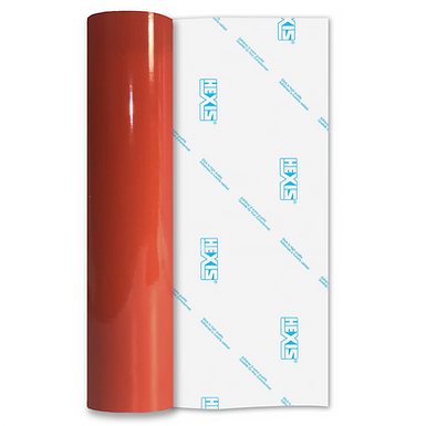 Orange Red Premium Permanent Gloss Self Adhesive Vinyl