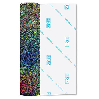 Multi Colour Glitter Heat Transfer Flex 305mm Wide x 500mm Long