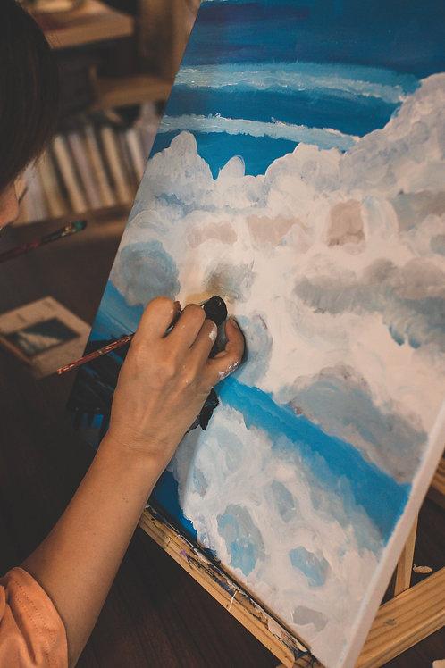 195 Gram White Matt Polyester Canvas
