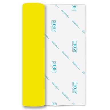 Neon Yellow Heat Transfer Flock 500mm Wide x 1m Long