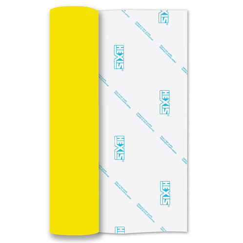 Neon Yellow Heat Transfer Flock 250mm Wide x 500mm Long