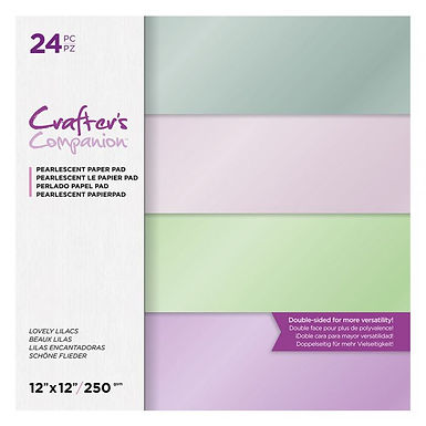 """Lovely Lilacs - 12"""" x 12"""" Centura Pearl 24 Sheet Paper Pad Crafter's Companion"""