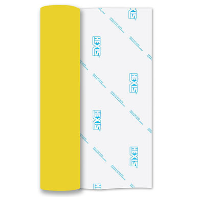 Yellow 3D Heat Transfer Flex 250mm Wide x 500mm Long