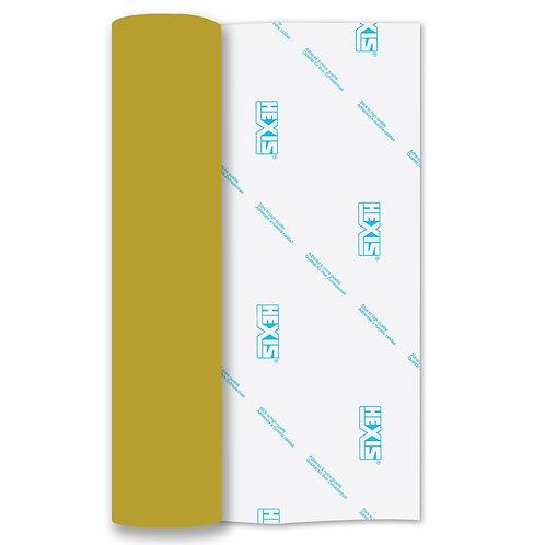 Gold Mirror PU Thin Soft Stretch Heat Transfer Flex 305mm Wide x 500mm