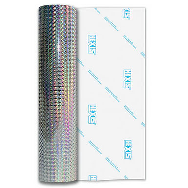 Silver Mosaic Gloss Self Adhesive Vinyl