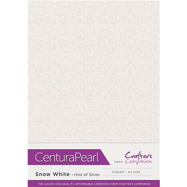 Snow White - Hint of Silver Centura Pearl Card Crafter's Companion