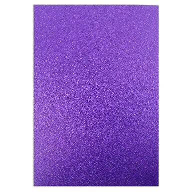A4 Glitter Card Purple